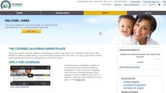California Obamacare application online