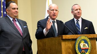 Jerry Brown budget signing ceremony