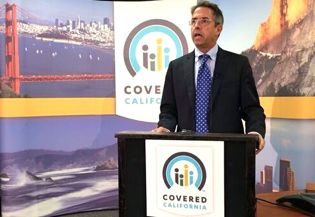Covered California CEO Peter Lee at press conference for October enrollment
