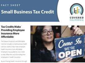 California SHOP marketplace tax credit info