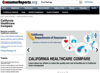 California health care web site